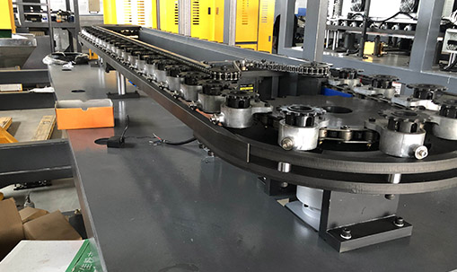 chain of pet blowing machine
